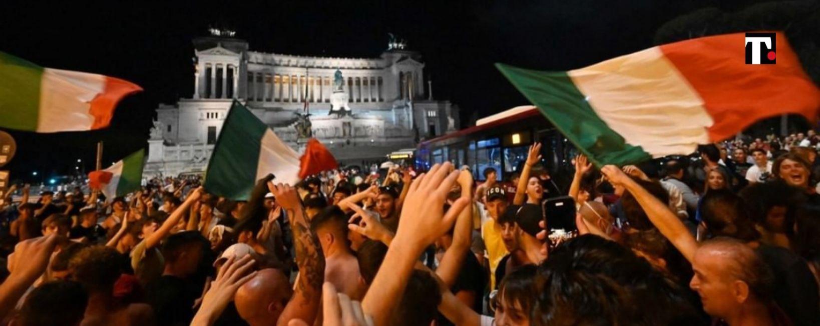 Finale Europei 2021 festeggiamenti