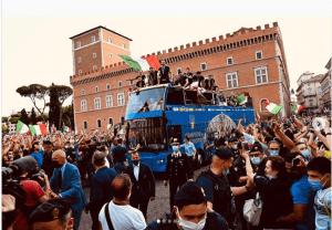 La sfilata degli azzurri non era stata autorizzata