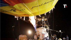 mongolfiera pilota muore