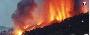spagna eruzione