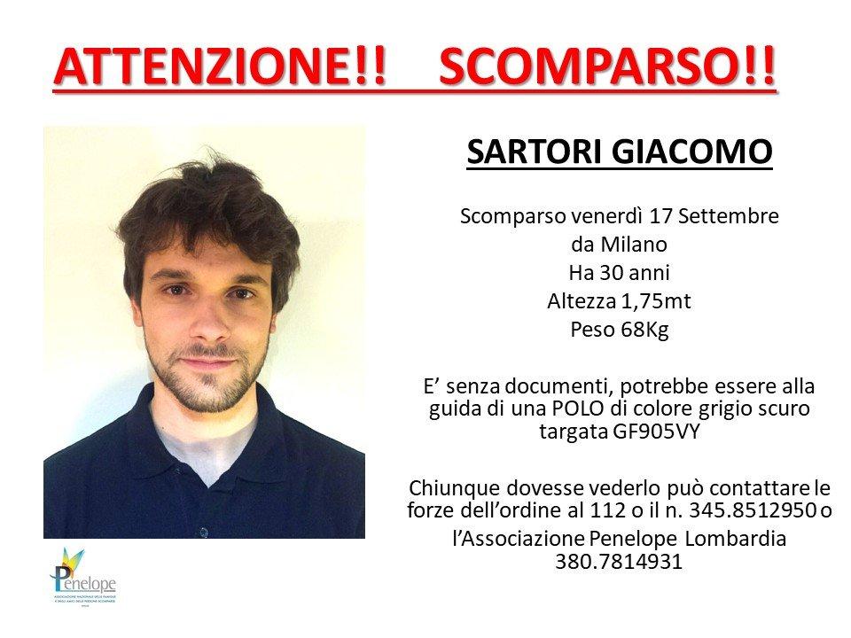 Scomparso Giacomo Sartori